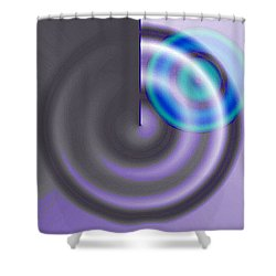Targe Cool Blue Shower Curtain by Susan Baker