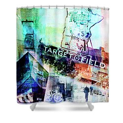 Target Field Us Bank Staduim  Shower Curtain by Susan Stone