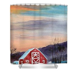 Target Range Barn Shower Curtain