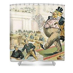 Tariff Lobbyist, 1897 Shower Curtain by Granger