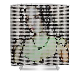 Shower Curtain featuring the digital art Tarja 1 by Marko Sabotin