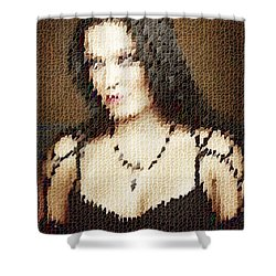 Shower Curtain featuring the digital art Tarja 10 by Marko Sabotin