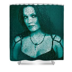 Shower Curtain featuring the digital art Tarja 12 by Marko Sabotin