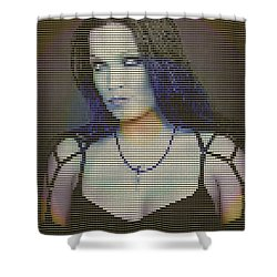 Shower Curtain featuring the digital art Tarja 16 by Marko Sabotin
