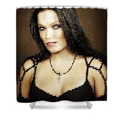Shower Curtain featuring the digital art Tarja 17 by Marko Sabotin