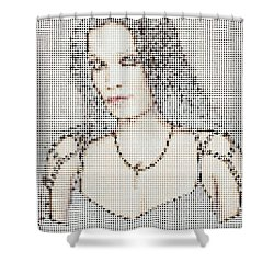 Shower Curtain featuring the digital art Tarja 18 by Marko Sabotin
