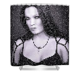 Shower Curtain featuring the digital art Tarja 19 by Marko Sabotin
