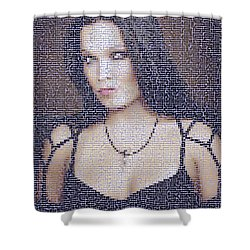 Shower Curtain featuring the digital art Tarja 2 by Marko Sabotin