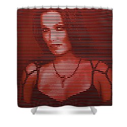 Shower Curtain featuring the digital art Tarja 20 by Marko Sabotin