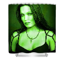 Shower Curtain featuring the digital art Tarja 3 by Marko Sabotin