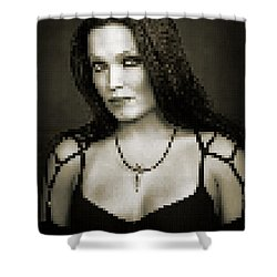 Shower Curtain featuring the digital art Tarja 4 by Marko Sabotin