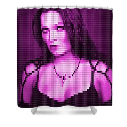 Shower Curtain featuring the digital art Tarja 5 by Marko Sabotin