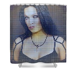 Shower Curtain featuring the digital art Tarja 9 by Marko Sabotin