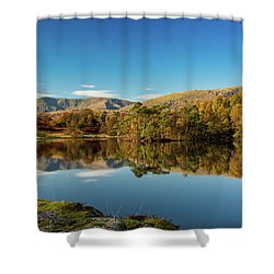 Shower Curtain featuring the photograph Tarn Hows by Mike Taylor