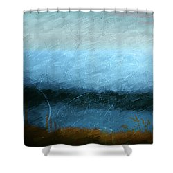 Tarn Shower Curtain by Linde Townsend