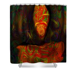 Shower Curtain featuring the painting Tarot Candle by Kevin Caudill