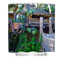 Tarzan Treehouse Shower Curtain