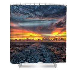 Tasman Sea Sunset Shower Curtain