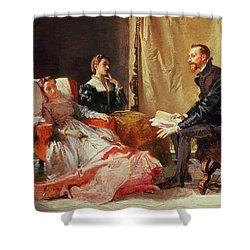 Tasso And Elenora Shower Curtain by Domenico Morelli