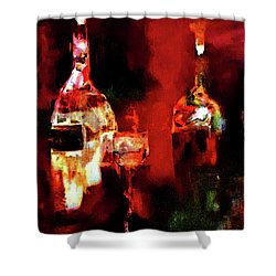 Taste Of Wine Shower Curtain by Lisa Kaiser