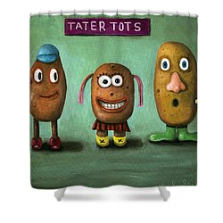 Tater Tots Shower Curtain by Leah Saulnier The Painting Maniac