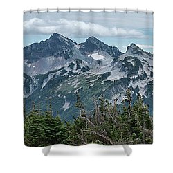 Tatoosh Panorama Shower Curtain