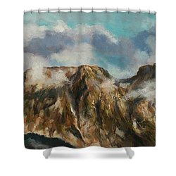 Tatry Mountains- Giewont Shower Curtain