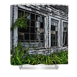 Tattered Color Signed Shower Curtain