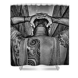 Tattoo Shower Curtain by Stelios Kleanthous