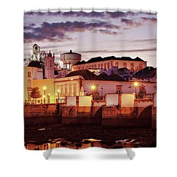Shower Curtain featuring the photograph Tavira At Dusk - Portugal by Barry O Carroll