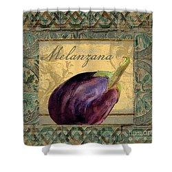 Tavolo Italian Table Eggplant Shower Curtain