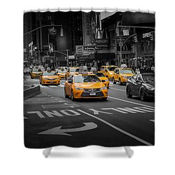 Taxi Please Shower Curtain