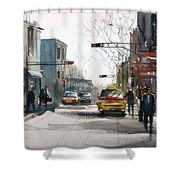 Taxi Shower Curtain by Ryan Radke