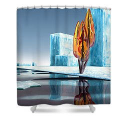 Taxus Glacialis Shower Curtain by Patricia Van Lubeck