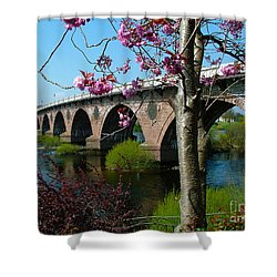 Tay Bridge - Perth - Scotland Shower Curtain by Phil Banks