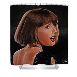 Taylor Swift Shower Curtain by Bill Dunkley