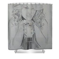 Taylor Swift Shower Curtain by Jiyad Mohammed nasser