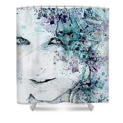 Taylor Swift Shower Curtain by JW Digital Art