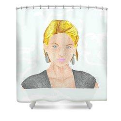 Taylor Swift Shower Curtain by Toni Jaso