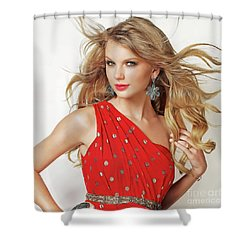 Taylor Swift Shower Curtain by Twinkle Mehta
