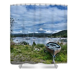 Tayvallich Harbour Shower Curtain