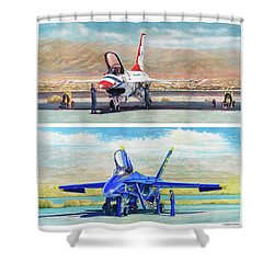 Tbirds And Angels Maintenance Shower Curtain