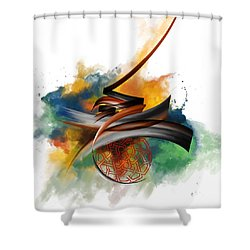 Tc Calligraphy 34 Shower Curtain by Team CATF