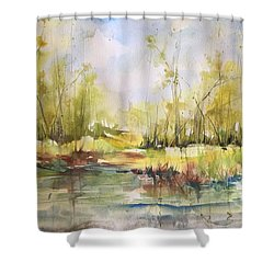 Tchefuncte River Series Shower Curtain