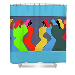 Tchokola Shower Curtain