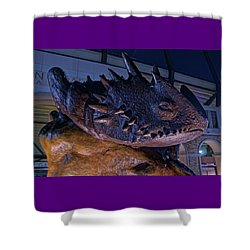 Shower Curtain featuring the photograph Tcu Frog Mascot by Jonathan Davison