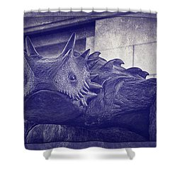 Tcu Horned Frog Purple Shower Curtain by Joan Carroll