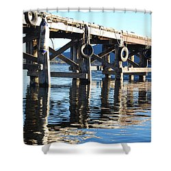 Shower Curtain featuring the photograph Te Anau Pier by Jocelyn Friis