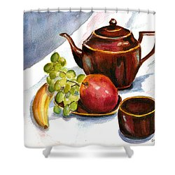 Tea And Fruit Shower Curtain