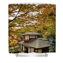 Shower Curtain featuring the photograph Tea Ceremony Room by Tad Kanazaki